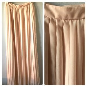 Petticoat Alley Pleated Chiffon Maxi Skirt Sz 2